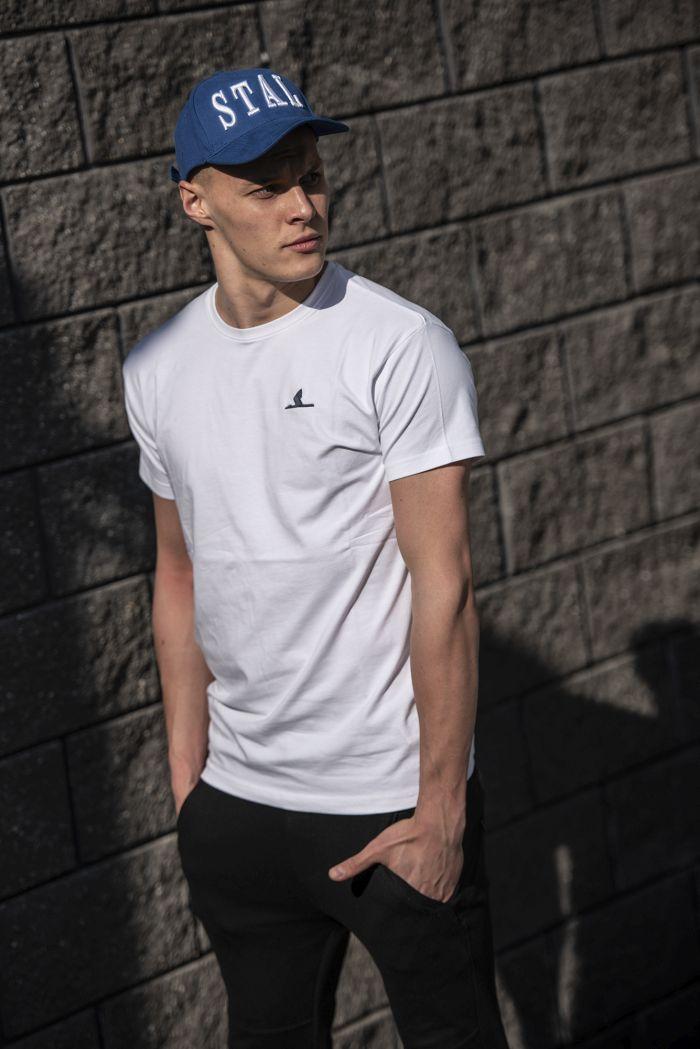 Koszulka z żurawiem streetwear biała – ZKS Stal Rzeszów